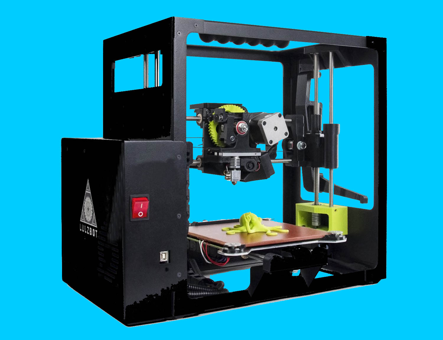 3D Printer with Custom Silicone Bed Heater