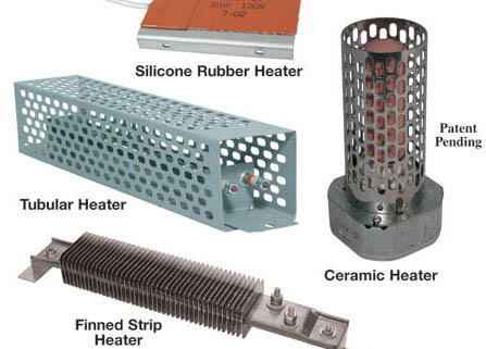 Silicone and metal enclosure heaters for ATMs and electrical panels/cabinets