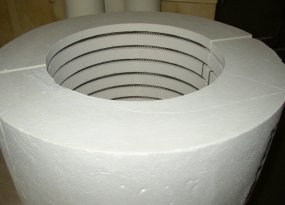 High Temperature ceramic fiber band heaters and ovens