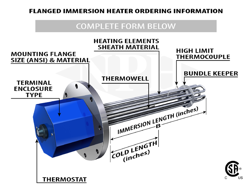 Pipe Insert Heaters Guide | Industrial Oil Tank Heaters | Dry Well on