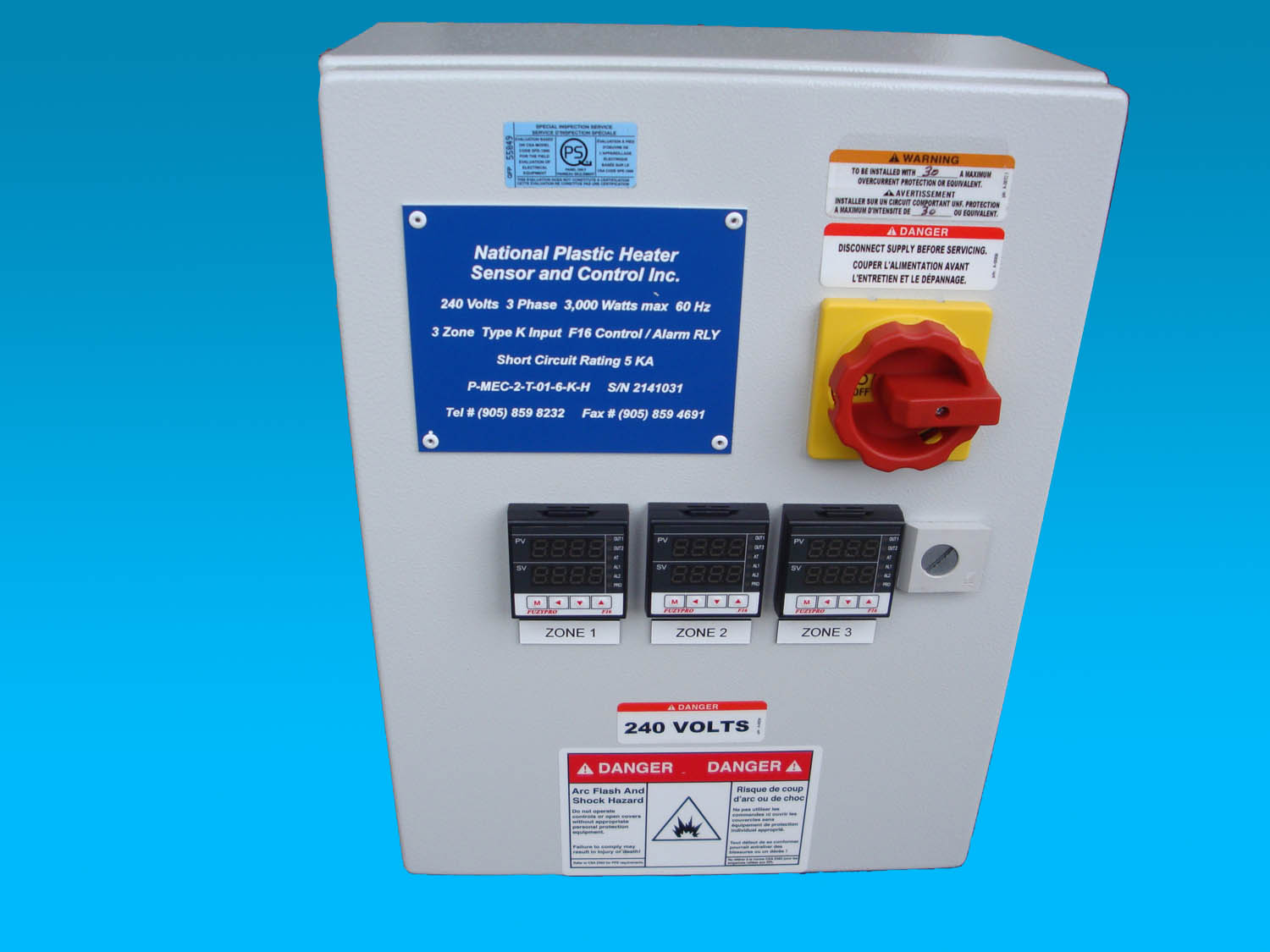 Temperature Control Power panels for Various Process Applications